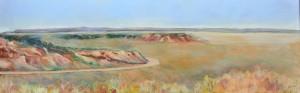 White Cliffs - Smiths Hill Oil on canvas 150cm x 50cm