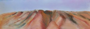 White Cliffs - North from Smiths Hill Oil on canvas 150cm x 50cm